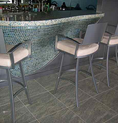 glass tiles and vetrazo top