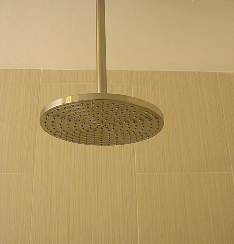 Rain shower ceiling mount