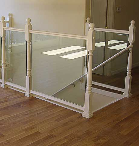 glass and bamboo flooring